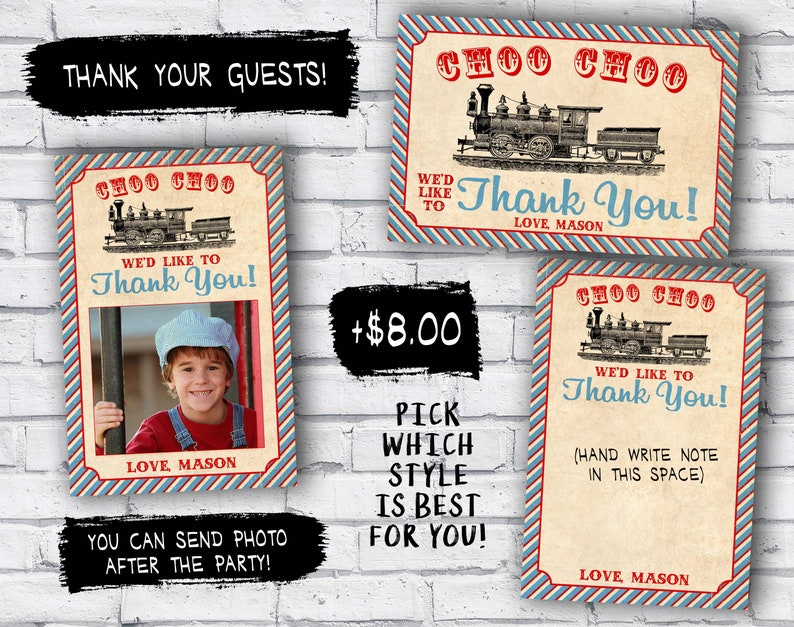 Train ticket invitation for birthday party Vintage Train invitation DIY printable invitation invite
