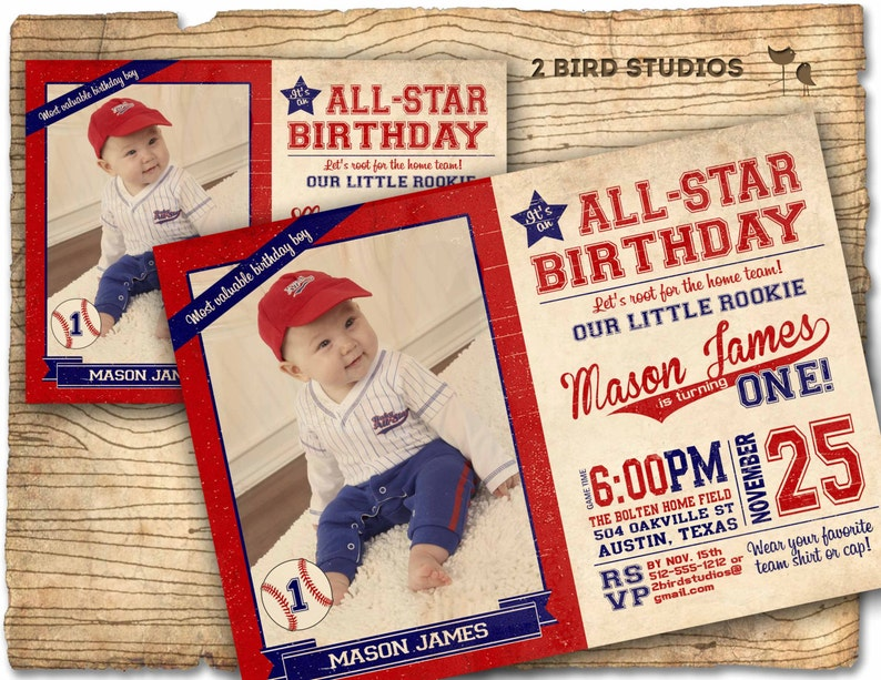 Baseball Invitation Birthday Party