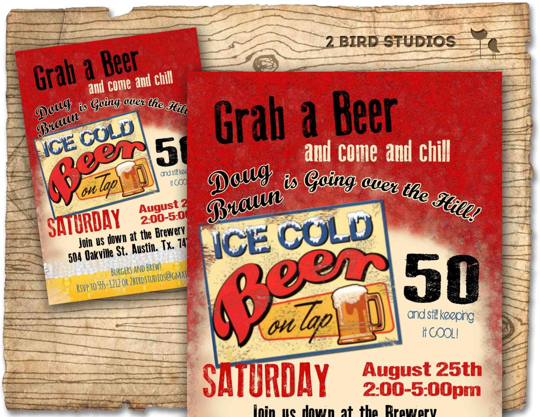 30th birthday invitation Beer birthday party invitations | Etsy