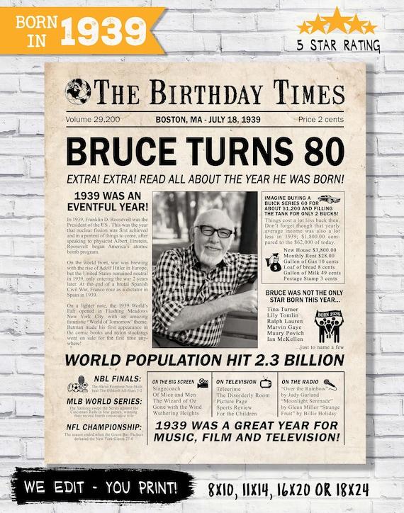 80th Birthday Gift Idea For Him