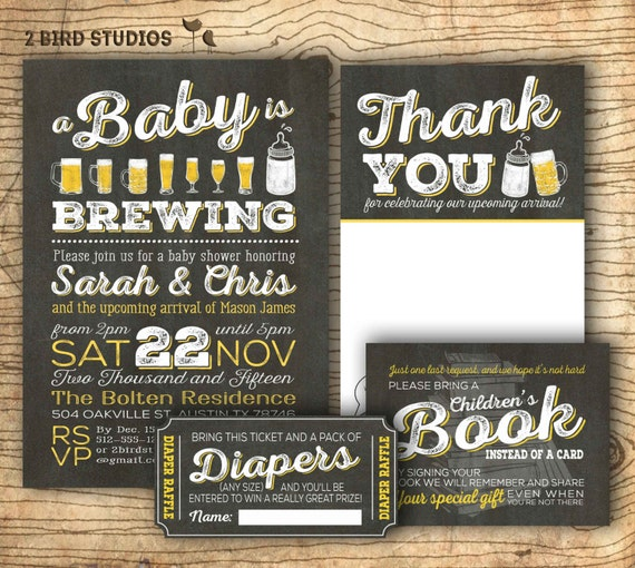 Diaper Shower Invitation Or Coed Baby