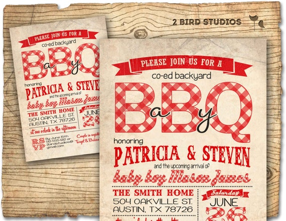 bbq baby shower invitation baby q baby shower coed couples etsy