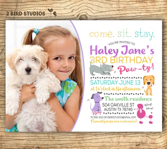 Puppy Party Invitations