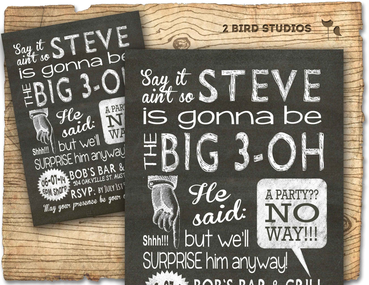 Surprise Party Invitation Adult Birthday Invites