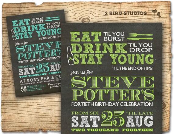 30th Birthday Party Invitation Invite DIY