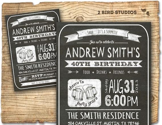30th Birthday Invitation Male Party Invitations