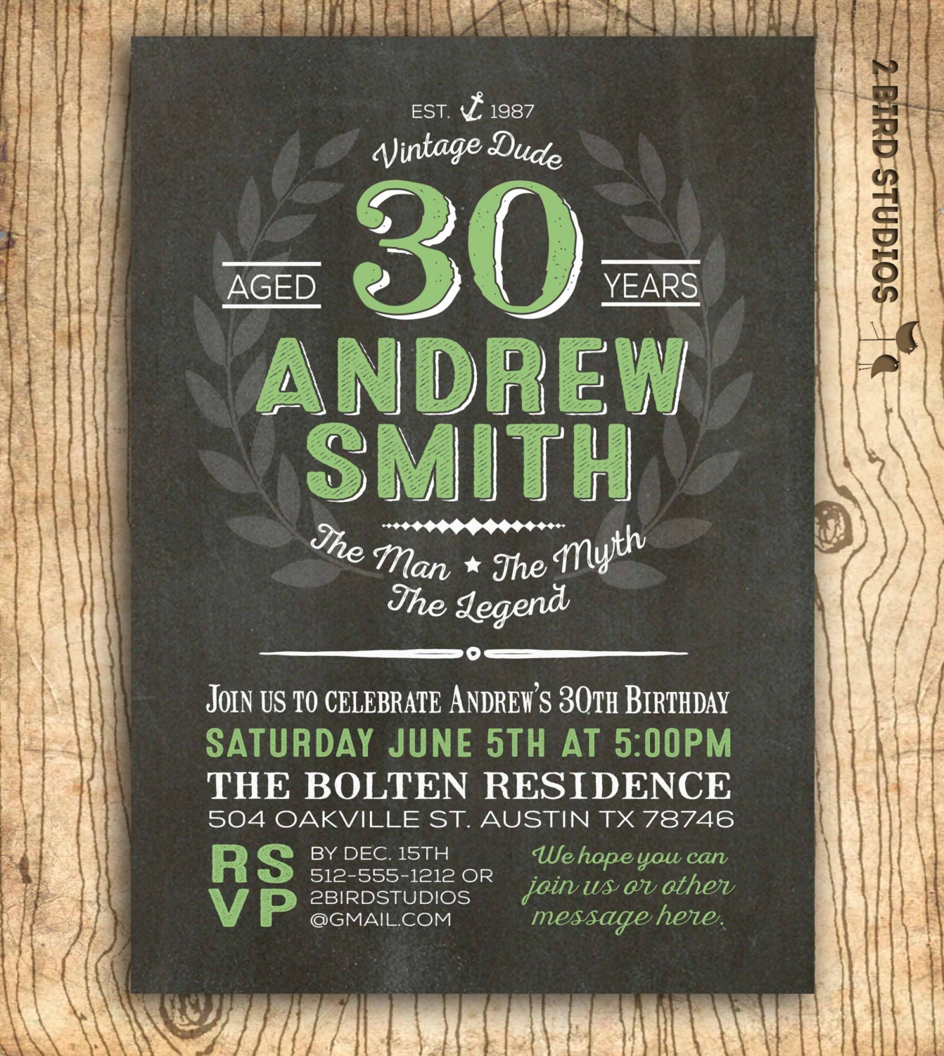 30th Birthday Invitation For Men Surprise