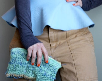Sea Anemone Clutch, one-of-a-kind, felted bag