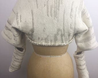 One-of-a-kind, Reversible knit shrug/sleeves