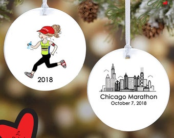 Marathon ornament | Etsy