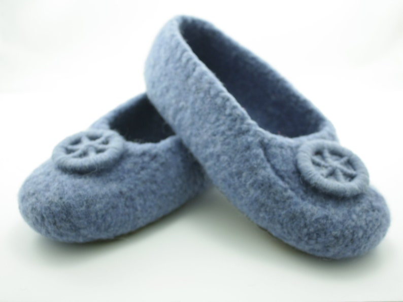 Womens MADE TO ORDER felted wool slippers Wool slippers image 0