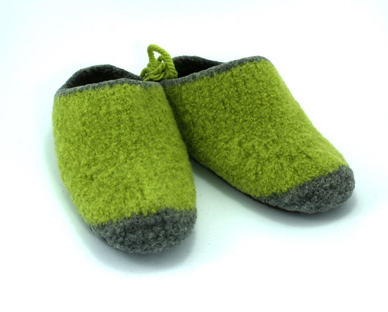 Womens MADE TO ORDER felted wool slippers Slip on Wool image 0