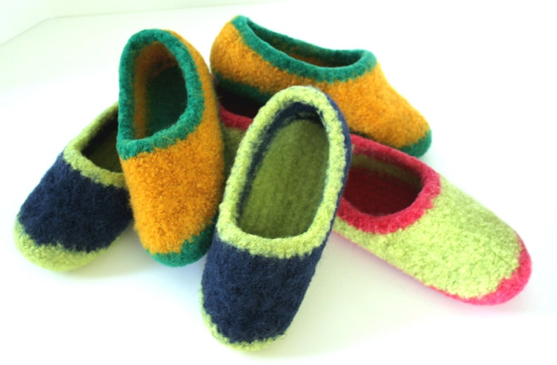 Kids MADE TO ORDER felted wool slippers Wool slippers image 0