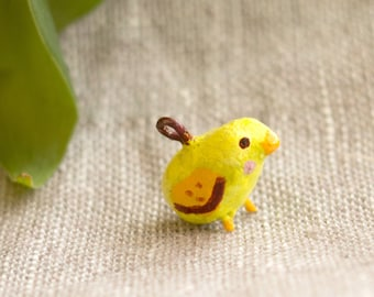 baby chick charm for necklace, bracelet, pendant, brooch accessories. Cute miniature one of a kind jewelry gift.  Handcrafted with love.