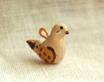 Dove charm for necklace, bracelet, pendant, accessories. Cute miniature one of a kind jewelry gift.  Handcrafted with love.