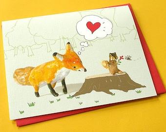 Cute Love card - Admiration