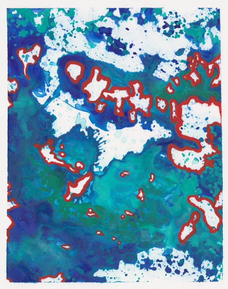 Peinture Contemporaine Abstraite Aquarelle Encre Originale Sur Etsy