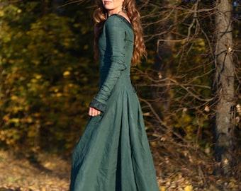 Medieval Renaissance Flax Linen Dress