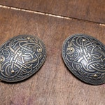 """20% DISCOUNT! In Stock! Ready to Ship! Viking Brass Fibulas """"Ingrid"""" (Pair); Oval Brooches"""