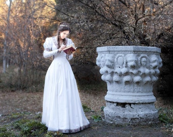 "Wedding Dress ""Found Princess""; Medieval Dress; Fantasy Style Dress;"