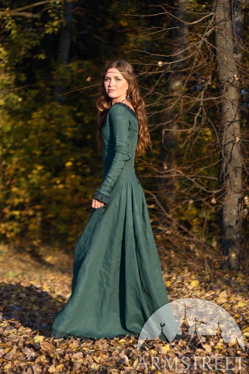 20% DISCOUNT Medieval Renaissance Flax Linen Dress  573f8e6be
