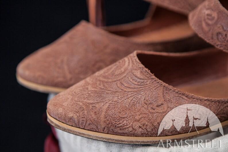 7f0a86b3c0b6f 14% DISCOUNT! Medieval Leather Womens Shoes; medieval shoes; womens shoes;  ren shoes
