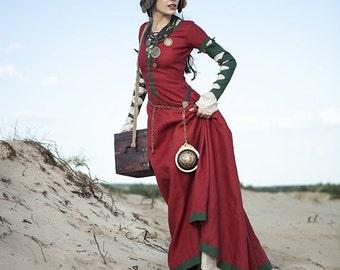 "Steampunk Dress ""The Alchemists daughter""; Medieval Dress"
