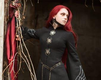 Dark Queen Coat; Halloween Coat; Woolen Coat