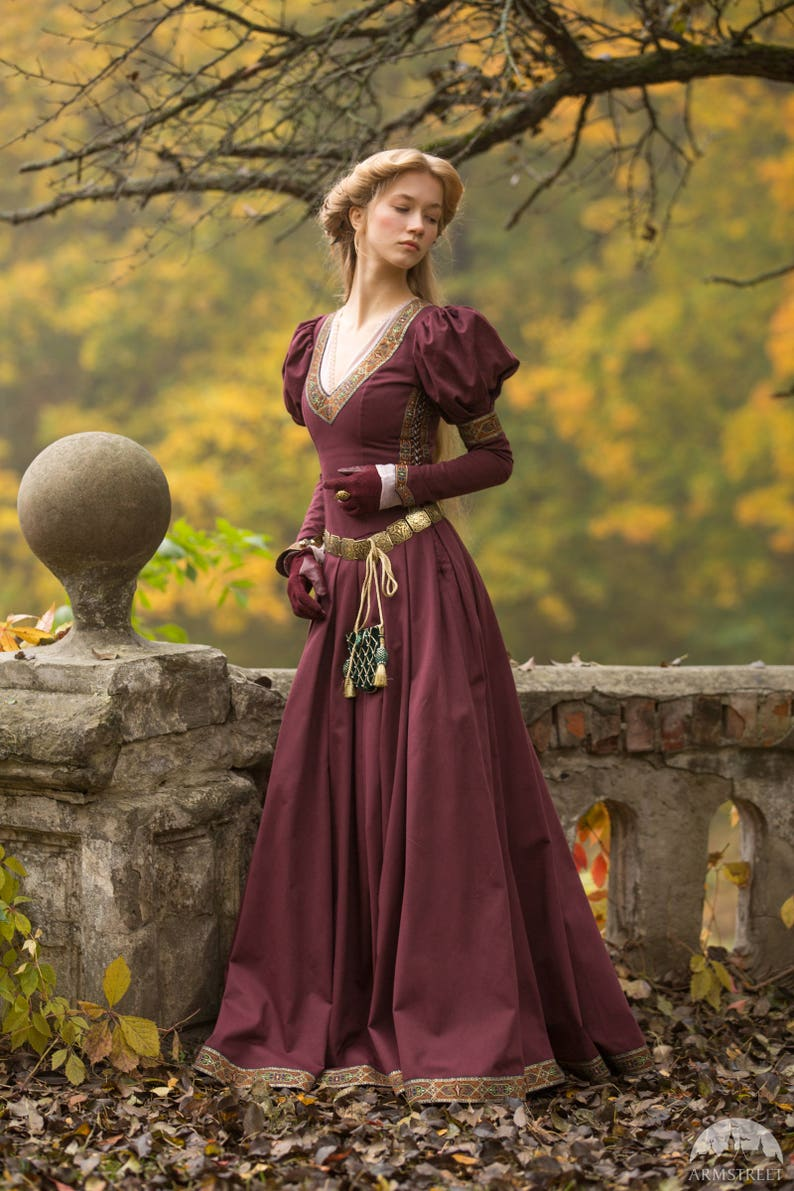 Medieval Cotton Fantasy Dress Princess in Exile Long Dress  86ca3105a