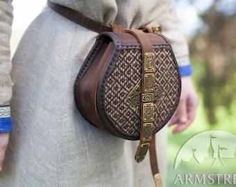 "Viking's Leather Bag ""Shieldmaiden""; Medieval Pouch; Viking Leather Bag; Medium bag"
