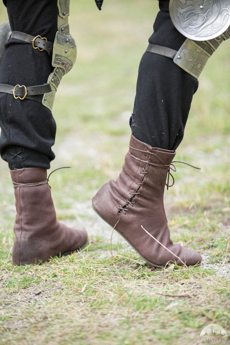e60fa4b85b368 14% DISCOUNT! Men High Shoes Paladin; Medieval Fantasy Boots; Goth Boots;
