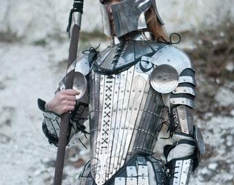 "Medieval Women's Armour Set ""Lady Warrior""; Fantasy Armor; Women's armor"