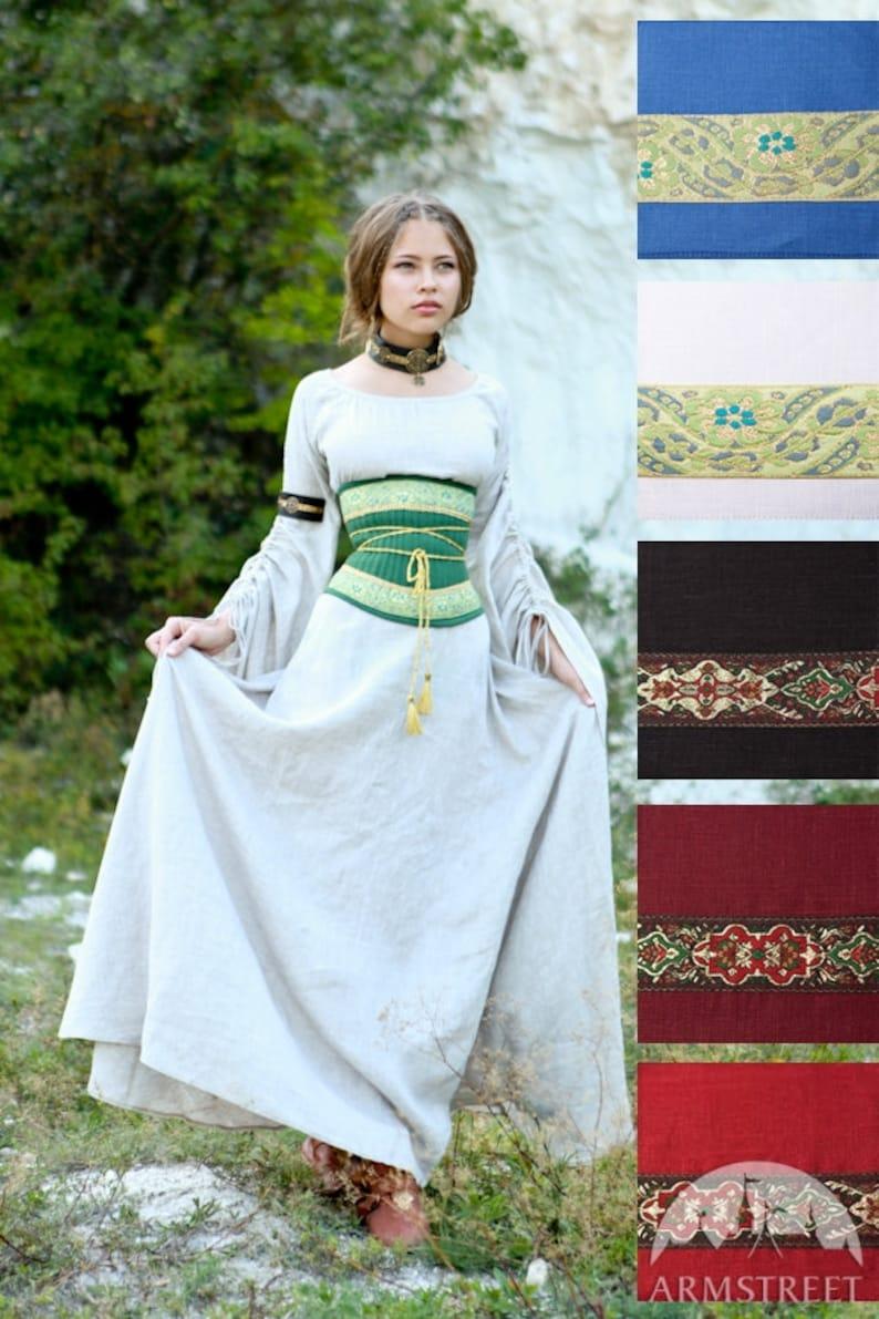 ddac129350 17% DISCOUNT Medieval Renaissance Linen Corset Belt
