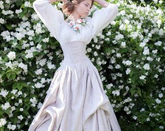 """Corset with skirt """"White Snow""""; Wide Skirt; Wedding Skirt; Prom Skirt"""