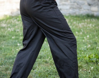 READY to ship! Medieval Cotton Trousers; Classic Straight Pants