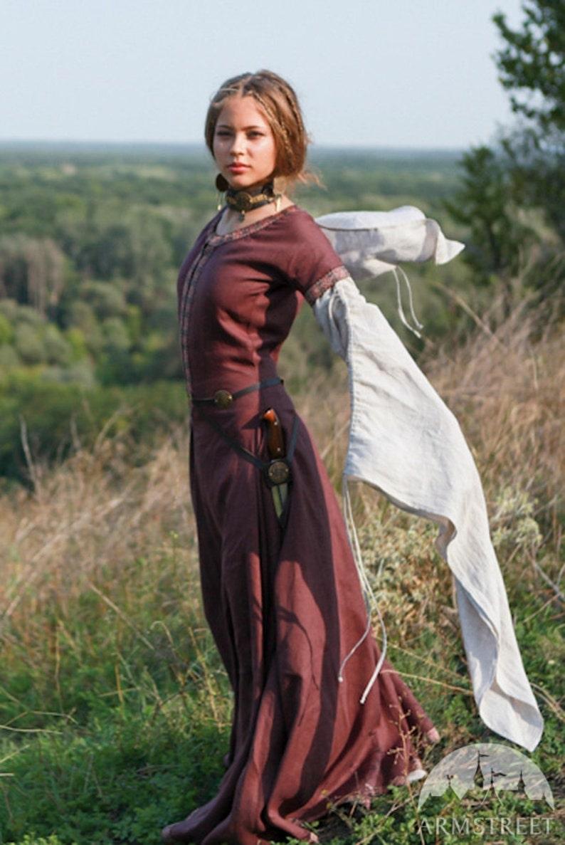 20% DISCOUNT Medieval Linen Dress Archeress  fc4a5343f