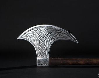 Axe Head with Viking design; Moon Shape Axe Head
