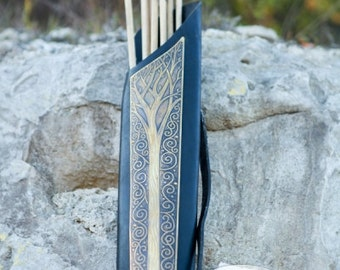 "Archery Quiver Leather Longbow ""Knight of the West"" elven quiver"
