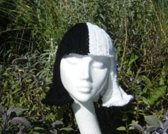Pattern: Cruella Deville knitted wig, perfect for Halloween