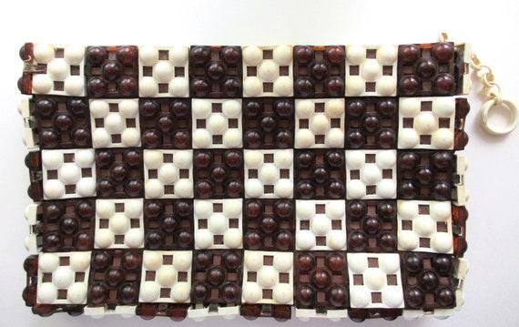Vintage Designed by JORUES  Plastic Tiles Cutch Pu