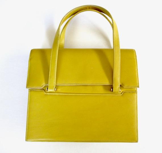 Vintage Pappagallo Bright Mustard Yellow Top Handl