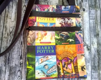 Harry Potter Books, Daily Prophet, Floral Faces Cross-body/Hipster Bags