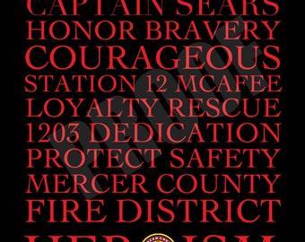 Firefighter Subway Art