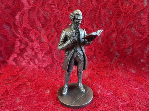 Vintage Pewter Figurine, The Schoolmaster, 1970s The People of Colonial  America Collection, Retired Franklin Mint Sculpture, Andrew Chernak