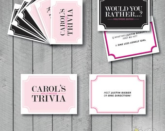 Make your own cards etsy custom printable make your own card game cards reheart Gallery