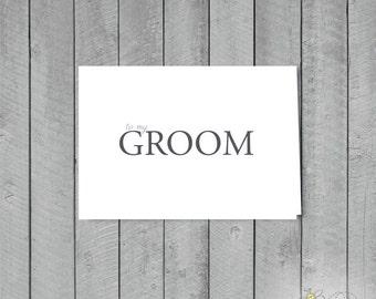 1 To my Groom Card +  1 Envelope