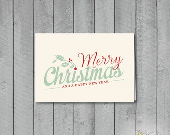 Set of 10 Vintage Style Christmas Cards + Envelopes