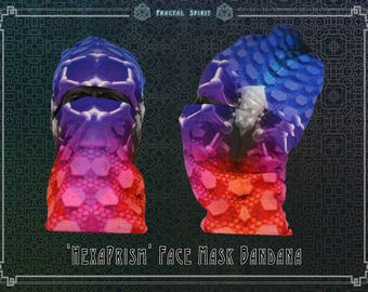 Bandana - 'HexaPrism'  Seamless Face-mask