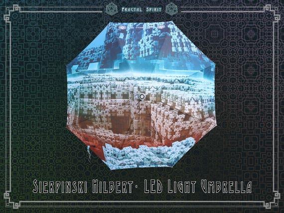 Art Umbrella with LED /& Flashlight HexaPrism