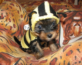 Dog sweater Bee dog jumper, puppy sweater puppy jumper, small dog clothes dog coat, small dog sweater medium large dog sweater costume